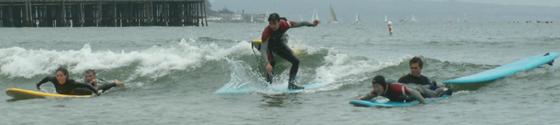 three action figures surf 2006: