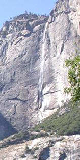 upper Yosemite Falls August 2003: