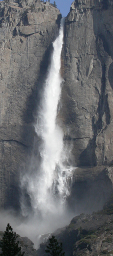 upper Yosemite fall April 1 2004: