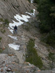 mid section Yose falls trail less snow 2006: