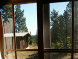 view from window Colter bay cabin: