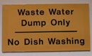 waste water sign: