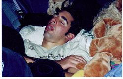 yet another Kevin Halseth asleep on road trip by Wendy Sato: