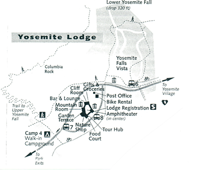 yosemite lodge map: