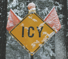 yosemite sign icy: