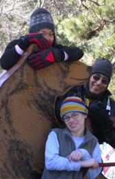 Alice, Deepak, Shannon and bear: