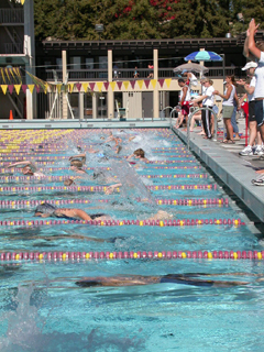 De Anza kids triathlon start: