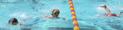 De Anza kids triathlon three swimmers: