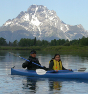 Marty and Wendy kayaking on Oxbow bend:
