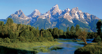 Tetons and river: