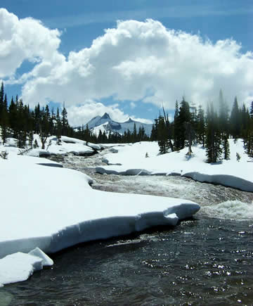 The Tuolumne River slowly emerges from winter NPS photo: