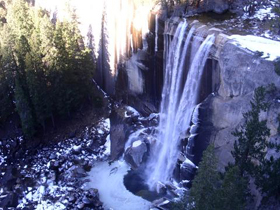 Vernal Fall from Clark Point, winter by Sudharsan Sripadham: