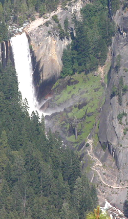Vernal Fall from Glacier Point: