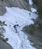 Yosemite Falls trail snow 2005: