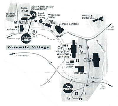 Map Of Yosemite Valley Mary Donahue