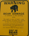 bear damage common sign: