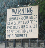 Alcatraz warning sign by Gong Chen: