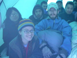 crowded tent snow 2005 four:
