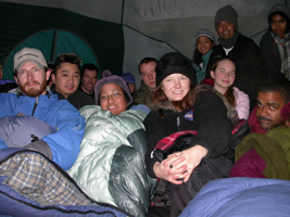 group photo in tent 2005 Yosemite: