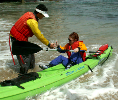 helping hand on return to shore 2007: