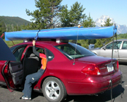 kayak on car: