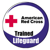 Red Cross official lifeguarding patch: