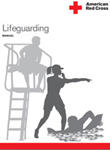 lifeguarding 2012 text cover: cover of a lifeguard manual showing line drawings of three lifeguards