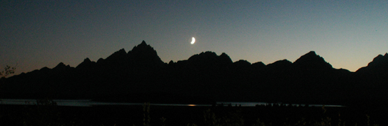 moonset over the tetons 2007 as steady as I could get it: