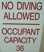 no diving occupancy 36: