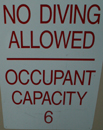 no diving occupancy 6: