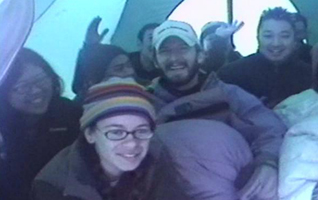 group photo in tent Yosemite 2005: