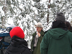 ranger talking about weasels in winter copyright Monica Colmenares: