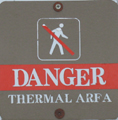 sign danger thermal area.: sign danger thermal area
