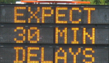 sign expect delays: sign expect 30 minute delays