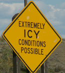 sign extremely icy conditions: