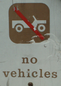 sign no vehicles: