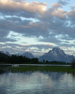oxbow bend Mt Moran sunrise 2003:
