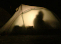 tent at night Colin Underwood: