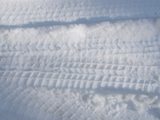 tire tracks in snow: tire tracks in snow