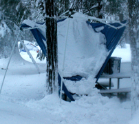 yosemite snow camp 2008 collapsed dine canopy: