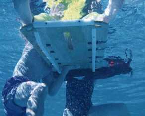 backboarding from underwater