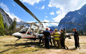 Yosemite helicopter loading victim NPS photo