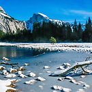 snowy meadow and Half Dome  by Eric Kulikoff used with ermission