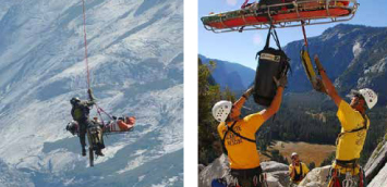 2 photos courtesy of the NPS of helicopter rescuers