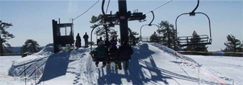 ski lift and snow courtesy of NPS