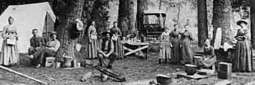 nps historical photo 1890 camping in Yosemite