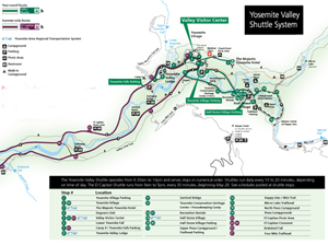 Yosemite Valley free shuttle bus – Mary Donahue on laguna beach shuttle map, tuolumne meadows shuttle map, las vegas shuttle map, disneyland shuttle map,
