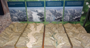 display shows how glaciers carved Yosemite valley over the ages