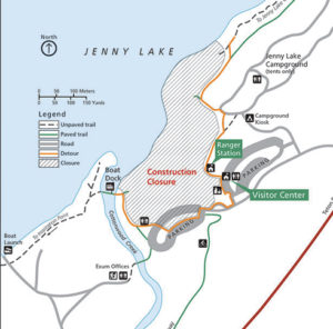 Jenny Lake area 2016 2017 construction closure map