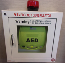 a e d wall storage case that says Warning! Alarm will sound when door opens